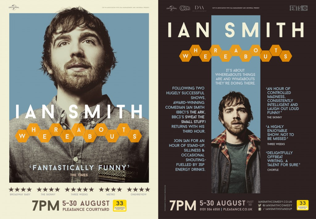 Ian Smith 2015 Whereabouts Poster and Flyer